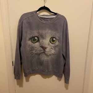 Urban Outfitters Cat Face Sweatshirt